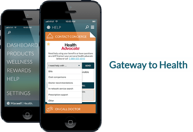 maxwell health on mobile