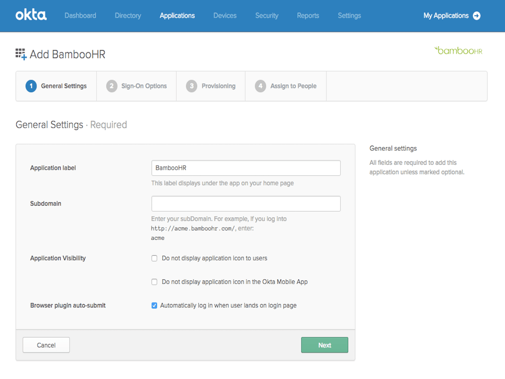 okta integration setup