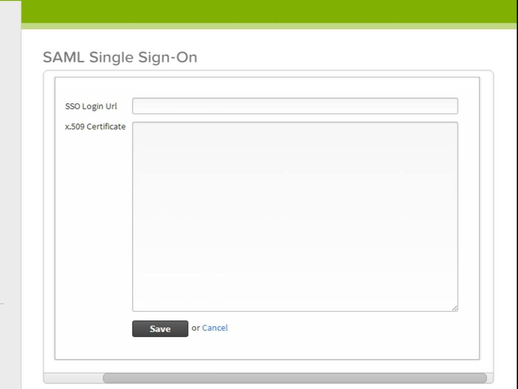 SAML single sign-on zoomed in