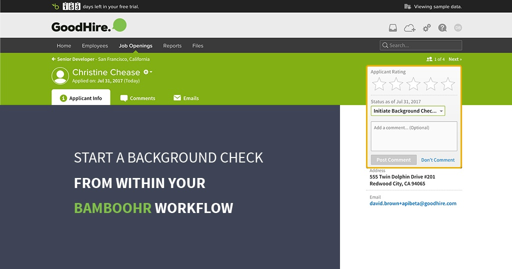 good hire workflow in bamboo HR
