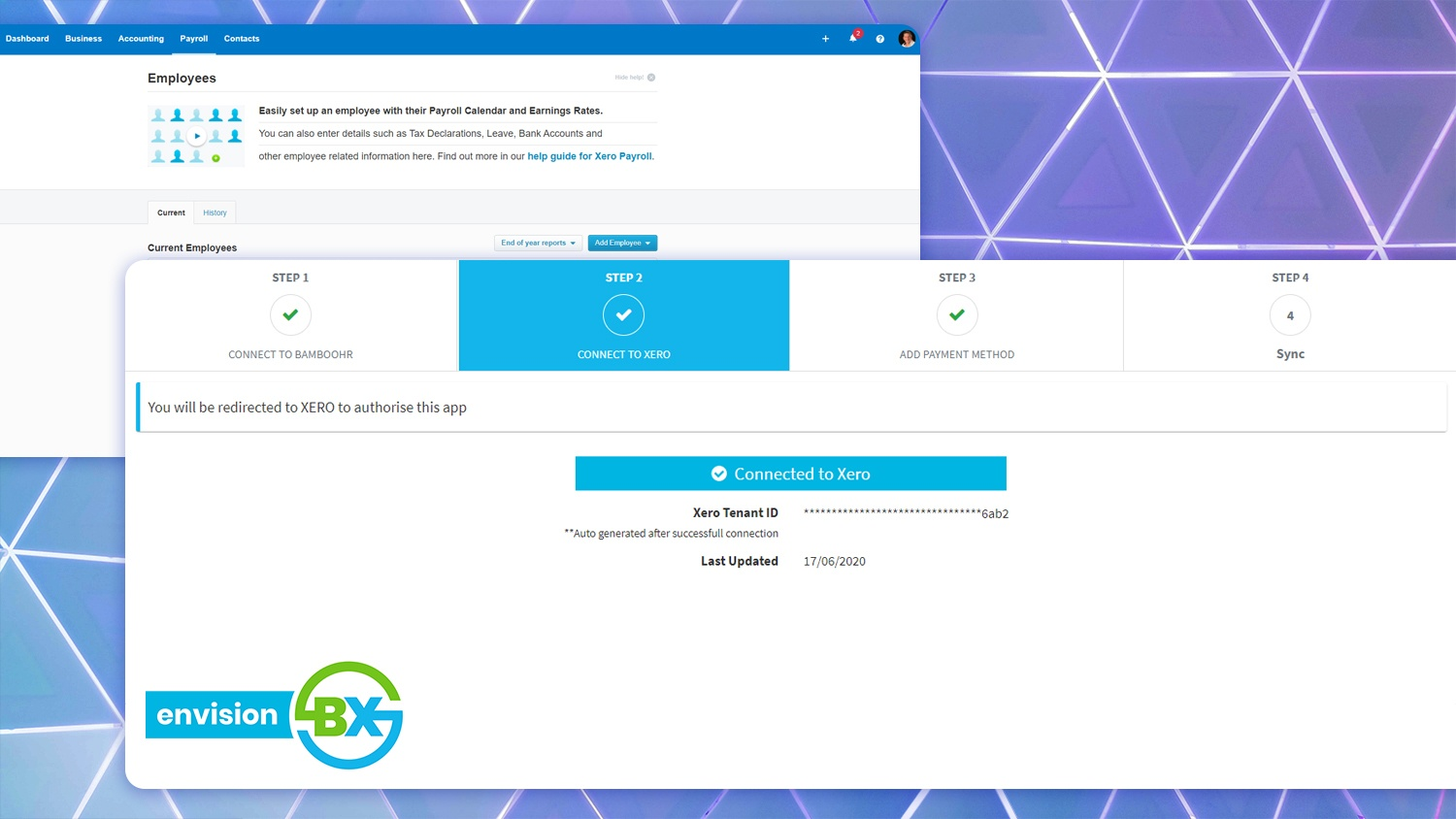 Step 2 - Connect to Xero